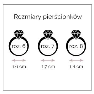 Pierścionek Stal Nierdzewna S4H70024-2(rozmiar8)